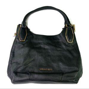 Michael Kors Black Large Leather Shoulder Handbag